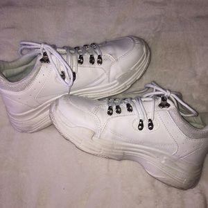 White NastyGal Chunky Sneakers